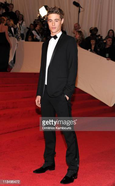 Actor Max Irons attends the Alexander McQueen Savage Beauty Costume Institute Gala at The Metropolitan Museum of Art on May 2 2011 in New York City