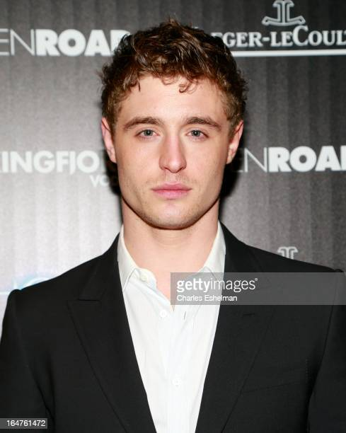 Actor Max Irons attends The Cinema Society JaegerLeCoultre Host A Screening Of Open Road Films' The Host at the Tribeca Grand Hotel Screening Room on...