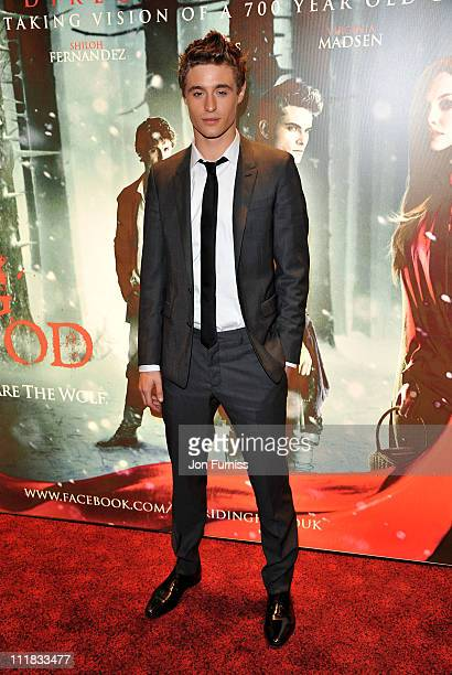 Actor Max Irons attends the Red Riding Hood gala screening at Empire Leicester Square on April 7 2011 in London England