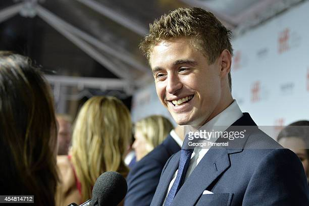 Actor Max Irons attends The Riot Club premiere during the 2014 Toronto International Film Festival at Roy Thomson Hall on September 6 2014 in Toronto...
