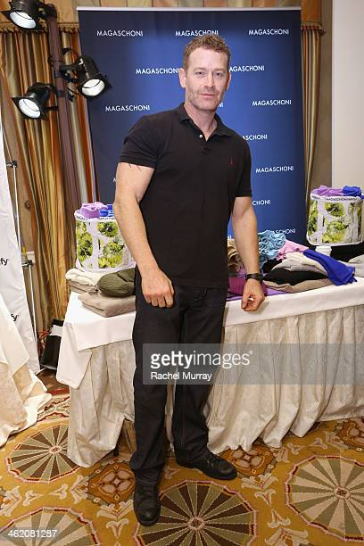 Actor Max Martini attends the HBO Luxury Lounge featuring PANDORA Jewelry at Four Seasons Hotel Los Angeles at Beverly Hills on January 12 2014 in...