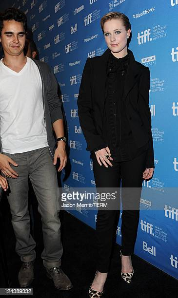 Actor Max Minghella and Actress Evan Rachel Wood arrive at The Ides Of March Press Conference during 2011 Toronto International Film Festival on...