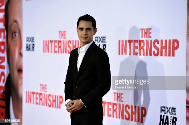 Actor Max Minghella arrives at the Premiere Of Twentieth Century Fox's The Internship on May 29 2013 in Westwood California