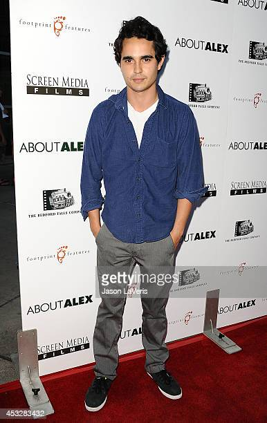 Actor Max Minghella attends the premiere of About Alex at ArcLight Hollywood on August 6 2014 in Hollywood California