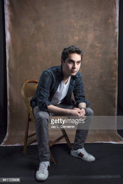 Actor Max Minghella of 'The Handmaid's Tale' is photographed for Los Angeles Times on March 17 2018 at the PaleyFest at the Dolby Theatre in...
