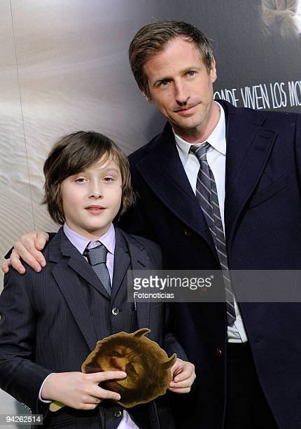 Actor Max Records and director Spike Jonze attend the premiere of ''Where The Wild Things Are'' at Callao cinema on December 10 2009 in Madrid Spain