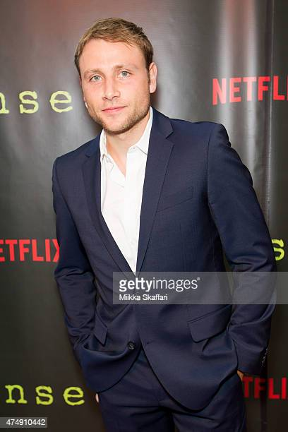 Actor Max Riemelt arrives at the Premiere of 'Sense8' at AMC Metreon 16 on May 27 2015 in San Francisco California