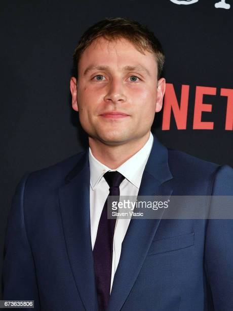 Actor Max Riemelt attends Sense8 New York Premiere at AMC Lincoln Square Theater on April 26 2017 in New York City