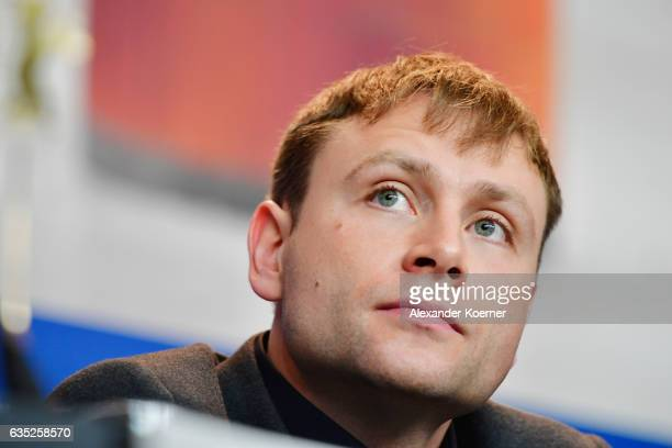 Actor Max Riemelt attends the 'Berlin Syndrom' press conference during the 67th Berlinale International Film Festival Berlin at Grand Hyatt Hotel on...