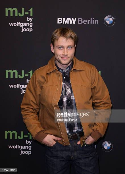 Actor Max Riemelt attends the launch to the MJ1 by Wolfgang Joop at Berliner Freiheit on October 27 2009 in Berlin Germany