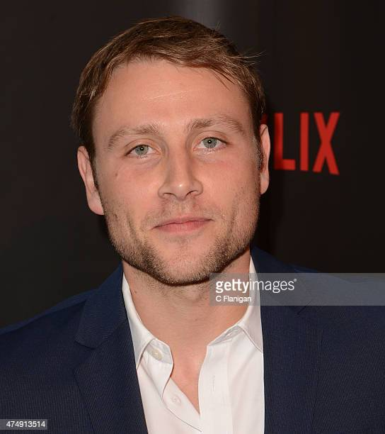 Actor Max Riemelt attends the Premiere Of Netflix's 'Sense8' at AMC Metreon 16 on May 27 2015 in San Francisco California