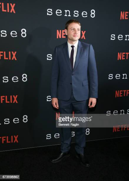 Actor Max Riemelt attends the Sense8 New York premiere at AMC Lincoln Square Theater on April 26 2017 in New York City