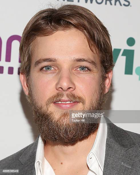 Actor Max Theriot attends the 2014 AE Networks Upfronts at Park Avenue Armory on May 8 2014 in New York City