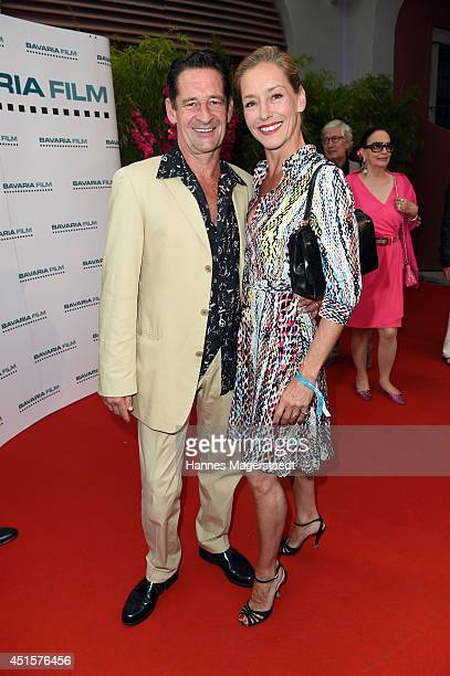 Actor Max Tidof and his wife Lisa Seitz attend the Bavaria Reception at the Kuenstlerhaus as part of the Munich Film Festival 2014 on July 1 2014 in...