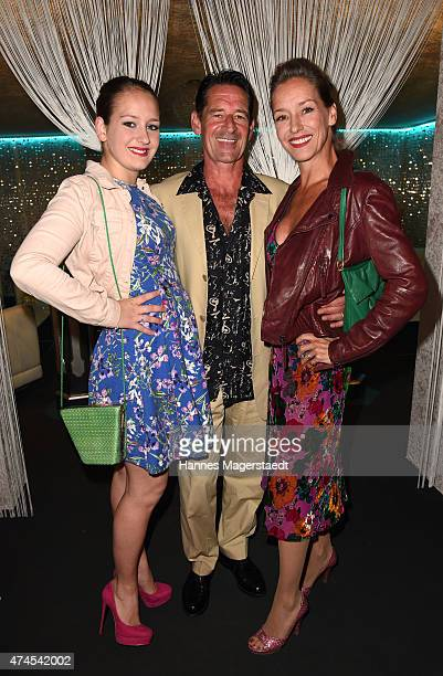 Actor Max Tidof and his wife Lisa Seitz with their daughter Luzi attend the 'Teatro Summer Night's Premiere In Munich' on May 23 2015 in Munich...