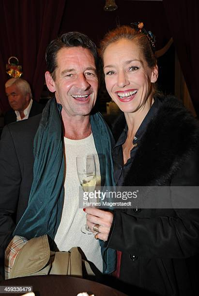 Actor Max Tidof and Lisa Seitz attend the Circus Krone Christmas Show at Circus Krone on December 25 2013 in Munich Germany