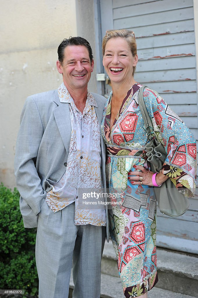 Actor Max Tidof and Lisa Seitz attend the FFF Reception at Praterinsel on July 3, 2014 in Munich, Germany.