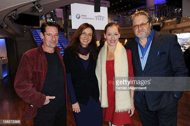 Actor Max Tidof Karin Brandner Lisa Seitz and actor Michael Brandner attend the BMW Adventskalender opening with Anja Kruse at the BMW Pavillon on...