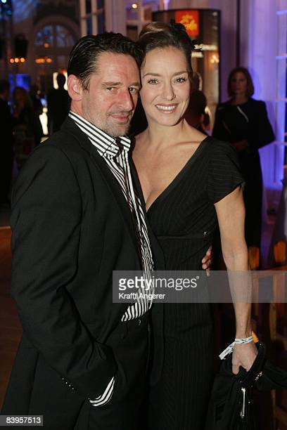 Actor Max Tidorf and actress Lisa Seitz attend the Movie Meets Media event on December 08 2008 in Hamburg Germany