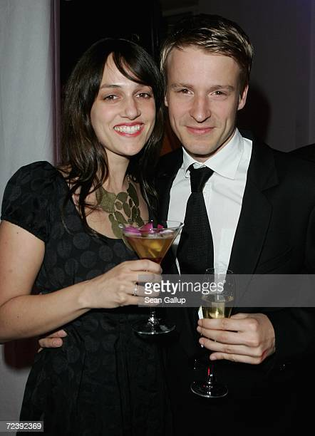 Actor Max von Pufendorf and Verena Zienicke attend the Viktor and Rolf HM Cocktail and Dinner November 3 2006 in Berlin Germany