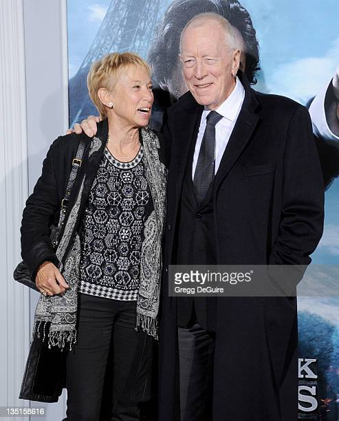 "Actor Max von Sydow and Catherine Brelet arrive at the ""Sherlock Holmes: A Game Of Shadows"" Los Angeles Premiere at Regency Village Theatre on..."