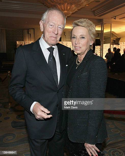 Actor Max von Sydow and Catherine Brelet attend AARP Magazine's 11th Annual Movies for Grownups Awards Gala at the Beverly Wilshire Four Seasons...