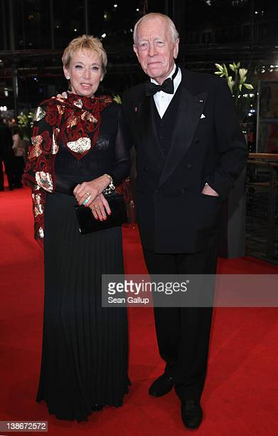 Actor Max von Sydow and Catherine Brelet attend the Extremely Loud And Incredibly Close Premiere during day two of the 62nd Berlin International Film...