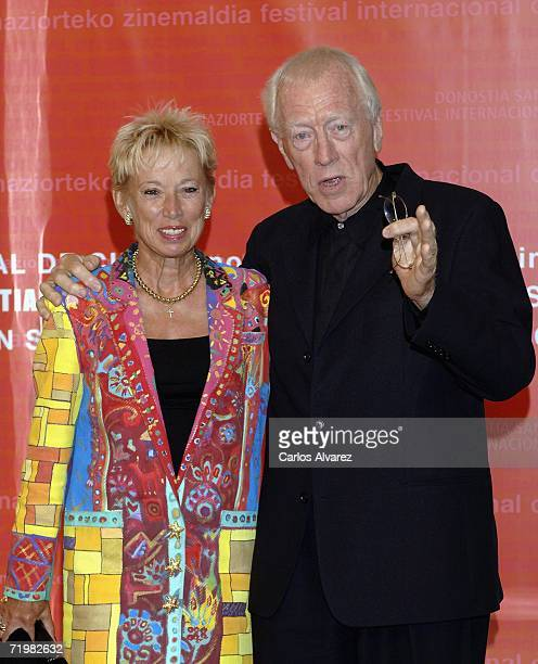 Actor Max Von Sydow and his wife Catherine arrive during day four of 54th San Sebastian Film Festival at the Kursaal Palace on September 24, 2006 in...