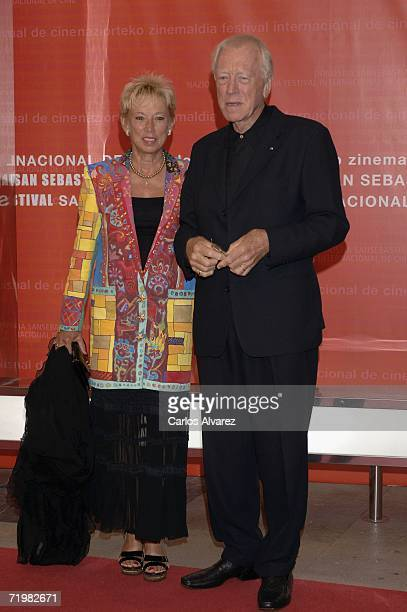 Actor Max Von Sydow and his wife Catherine arrives at the Kursaal Palace during day 4 of 54th San Sebastian Film Festival on September 24, 2006 in...