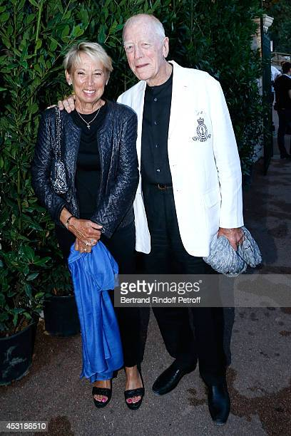 Actor Max von Sydow and his wife Catherine attend the 30th Ramatuelle Festival : Day 4 on August 4, 2014 in Ramatuelle, France.