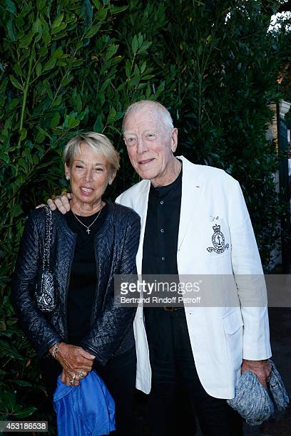 Actor Max von Sydow and his wife Catherine attend the 30th Ramatuelle Festival Day 4 on August 4 2014 in Ramatuelle France
