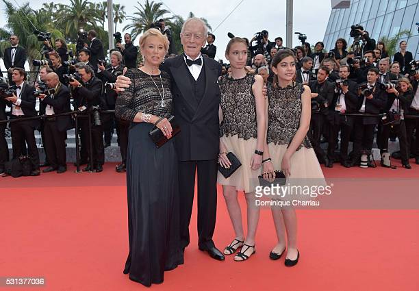 Actor Max Von Sydow and wife Catherine Brelet attend The BFG premiere during the 69th annual Cannes Film Festival at the Palais des Festivals on May...