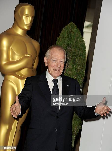 Actor Max von Sydow arrives at the 84th Academy Awards Nominations Luncheon at The Beverly Hilton hotel on February 6 2012 in Beverly Hills California