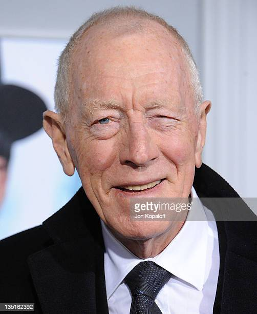 Actor Max von Sydow arrives at the Los Angeles Premiere Sherlock Holmes A Game Of Shadows at Regency Village Theatre on December 6 2011 in Westwood...