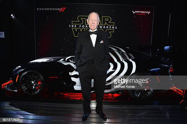 Actor Max von Sydow arrives at the premiere of Walt Disney Pictures' and Lucasfilm's Star Wars The Force Awakens sponsored by Dodge at the Dolby...
