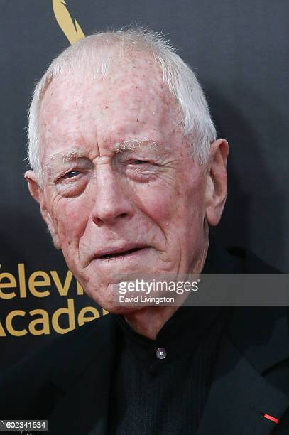 Actor Max von Sydow attends the 2016 Creative Arts Emmy Awards Day 1 at the Microsoft Theater on September 10 2016 in Los Angeles California