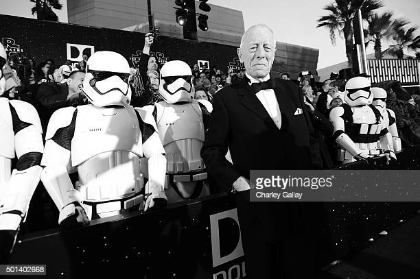 """Actor Max von Sydow attends the World Premiere of """"Star Wars The Force Awakens"""" at the Dolby El Capitan and TCL Theatres on December 14 2015 in..."""