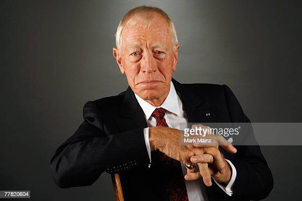 Actor Max von Sydow of the film xxx poses in the portrait studio during AFI FEST 2007 presented by Audi held at ArcLight Cinemas on November 8 2007...
