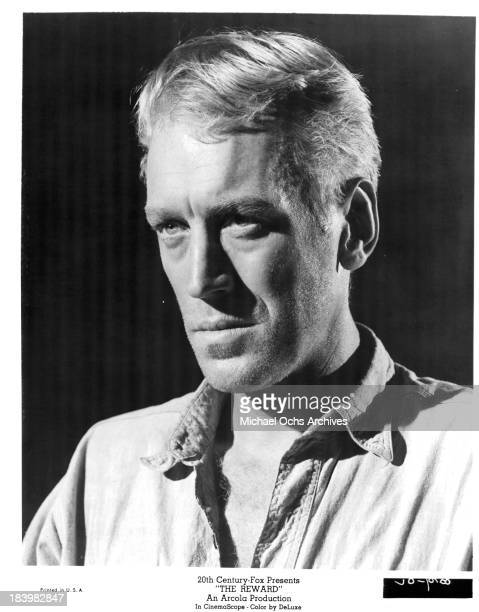 Actor Max von Sydow on set of the 20th Century Fox movie The Reward in 1965