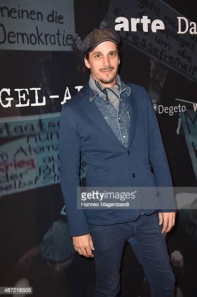 Actor Max von Thun attends 'Die SpiegelAffaere' Preview at Gloria Palast on April 28 2014 in Munich Germany