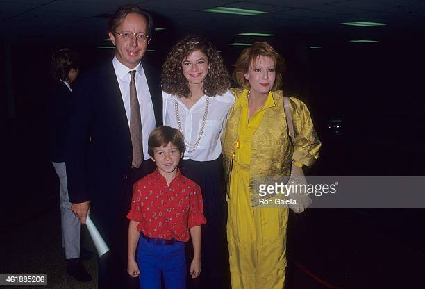Actor Max Wright actress Andrea Elson actress Anne Schedeen and actor Benji Gregory attend the NBC Television Affiliates Party on June 2 1987 at...