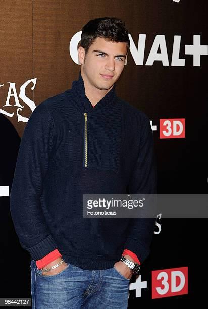 Actor Maxi Iglesias attends 'Alicia en el Pais de las Maravillas' premiere at Proyecciones Cinema on April 13 2010 in Madrid Spain