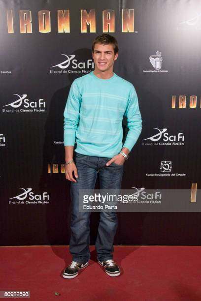 Actor Maxi Iglesias attends the premiere of 'Iron Man' on April 29 2008 at Capitol Cinema in Madrid Spain