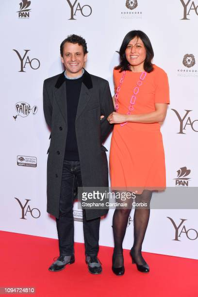 Actor Maxime d'Aboville and his wife Mathilde attend 'Yao' Paris Premiere at Le Grand Rex on January 15 2019 in Paris France