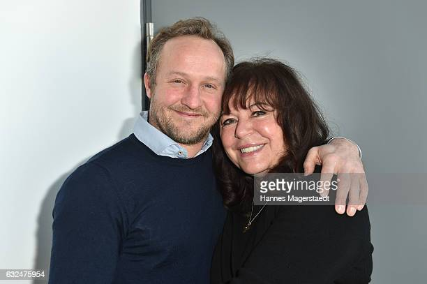 Actor Maximilian Brueckner and Gundi Ellert attend the BR film brunch on January 23 2017 in Munich Germany