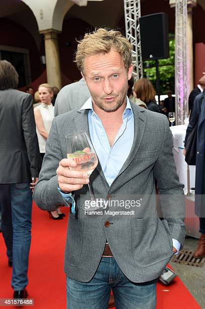 Actor Maximilian Brueckner attends the Bavaria Reception during the Munich Film Festival 2014 on July 1 2014 in Munich Germany