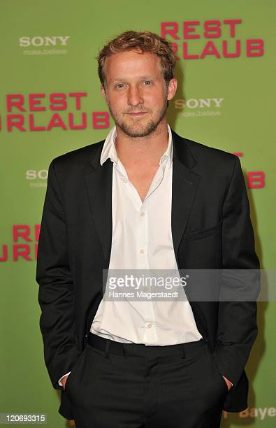 Actor Maximilian Brueckner attends the Germany Premiere 'Resturlaub' at the Mathaeser Filmpalast on August 8 2011 in Munich Germany