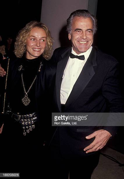 Actor Maximillian Schell and Natasha Schell attend 48th Annual Golden Globe Awards on January 19 1991 at the Beverly Hilton Hotel in Beverly Hills...