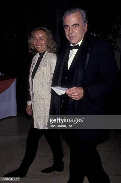 Actor Maximillian Schell and Natasha Schell attend Fourth Annual Britannia Awards Honoring Martin Scorcese on December 10 1993 at the Beverly Hilton...