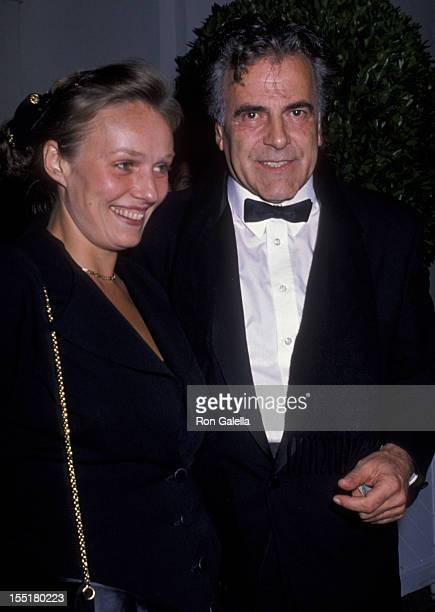 Actor Maximillian Schell and Natasha Schell attend Harry Winston PreOscar Party on March 25 1990 at L'Orangerie in West Hollywood California